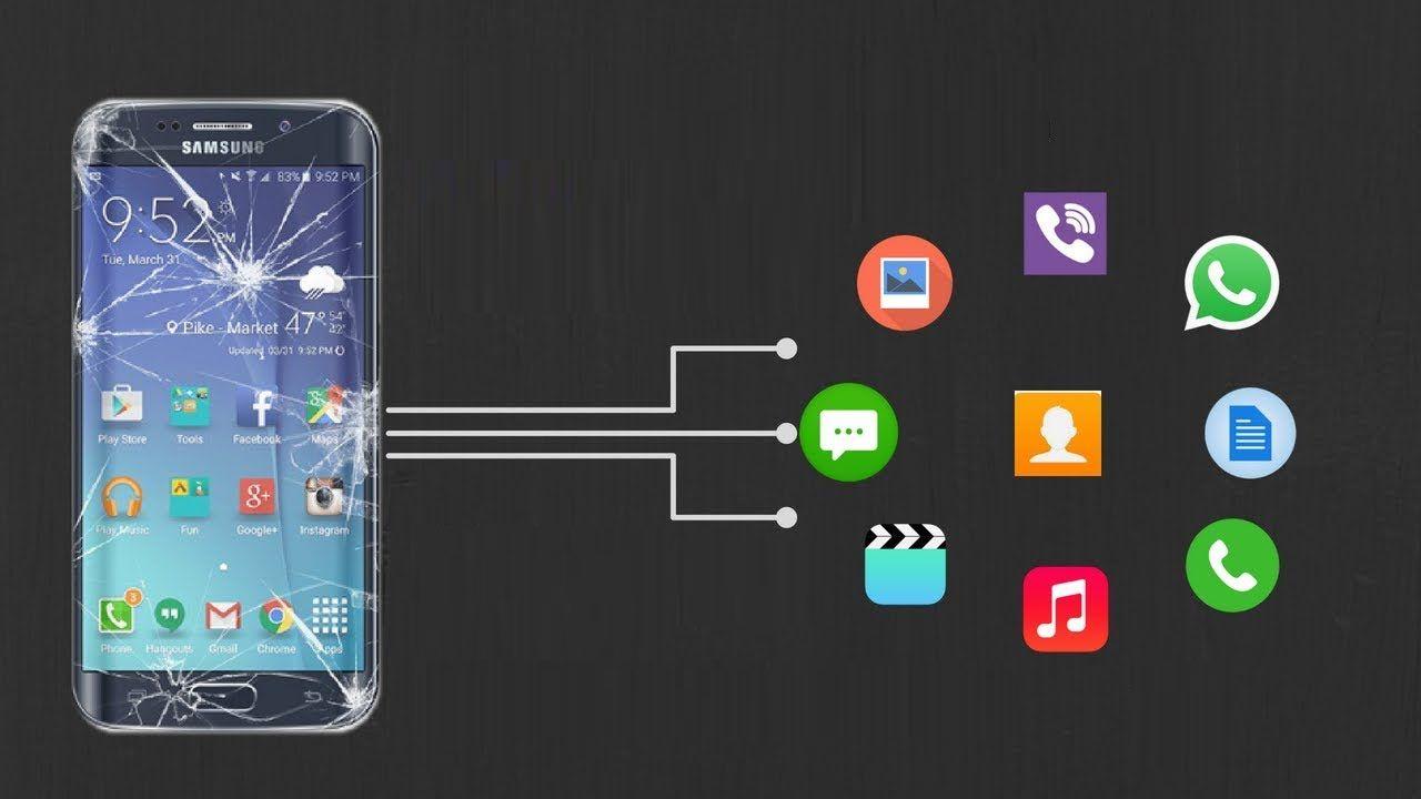 récupérer Données du téléphone Android Avec écran cassé